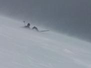 Håvard Rye - Skiløper i snøstorm